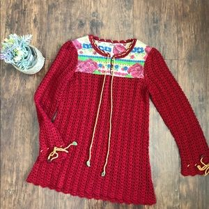 Free People knitted long sleeve tunic size XS
